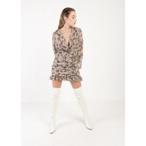 Vestido mini con estampado floral