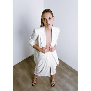 Falda midi con drapeado