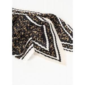 Pañuelo plisado estampado