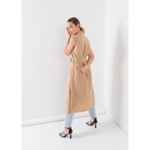 Vestido sin mangas camisero