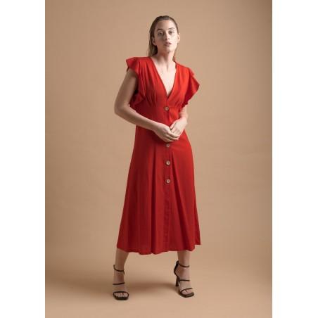 Vestido lino midi