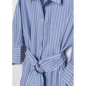Vestido camisero rayas