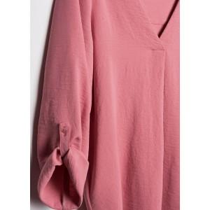 Blusa manga recogida