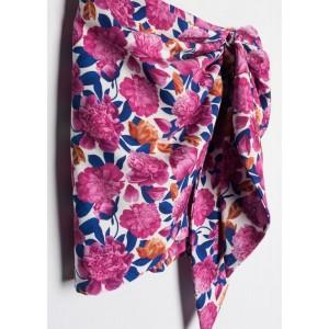 minifalda picos estampada