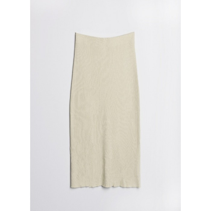 Falda larga de punto