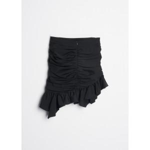 Minifalda drapeada con volante