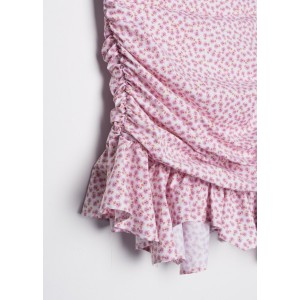 Minifalda estampada drapeada