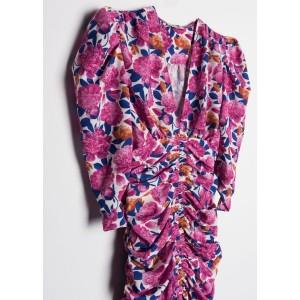 Vestido mini con falda drapeada