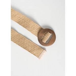 Cinturón con hebilla de madera
