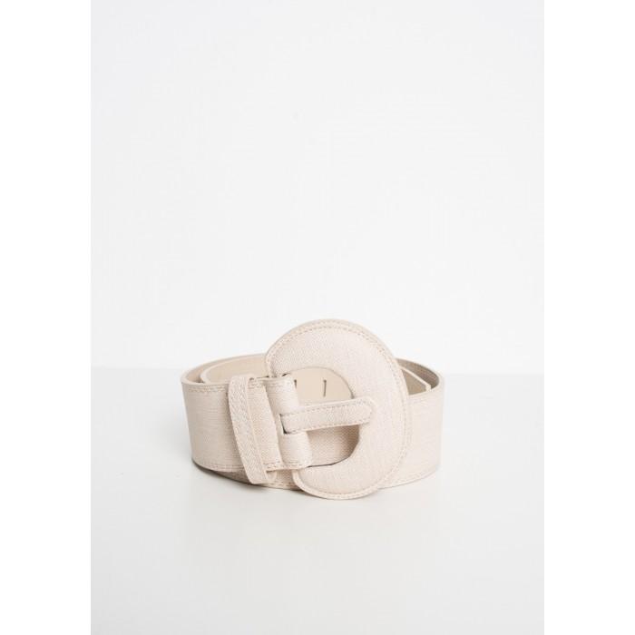 Cinturón para mujer hebilla media luna