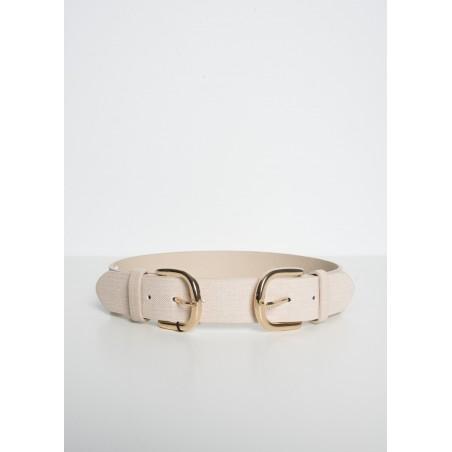 Cinturon de mujer con doble hebilla