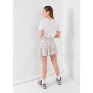 Falda pantalon con topos