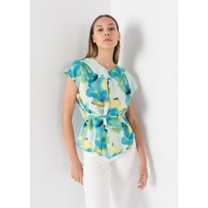 Blusa estampado manchas colores