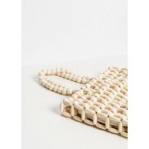 Bolso bolitas madera
