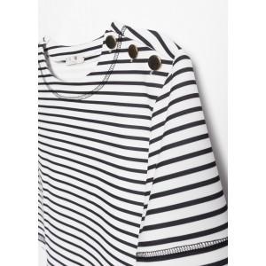 Camiseta marinera con botones