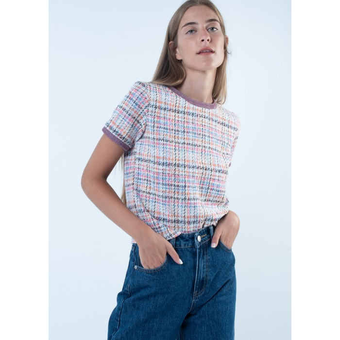 Jersey manga corta estampado